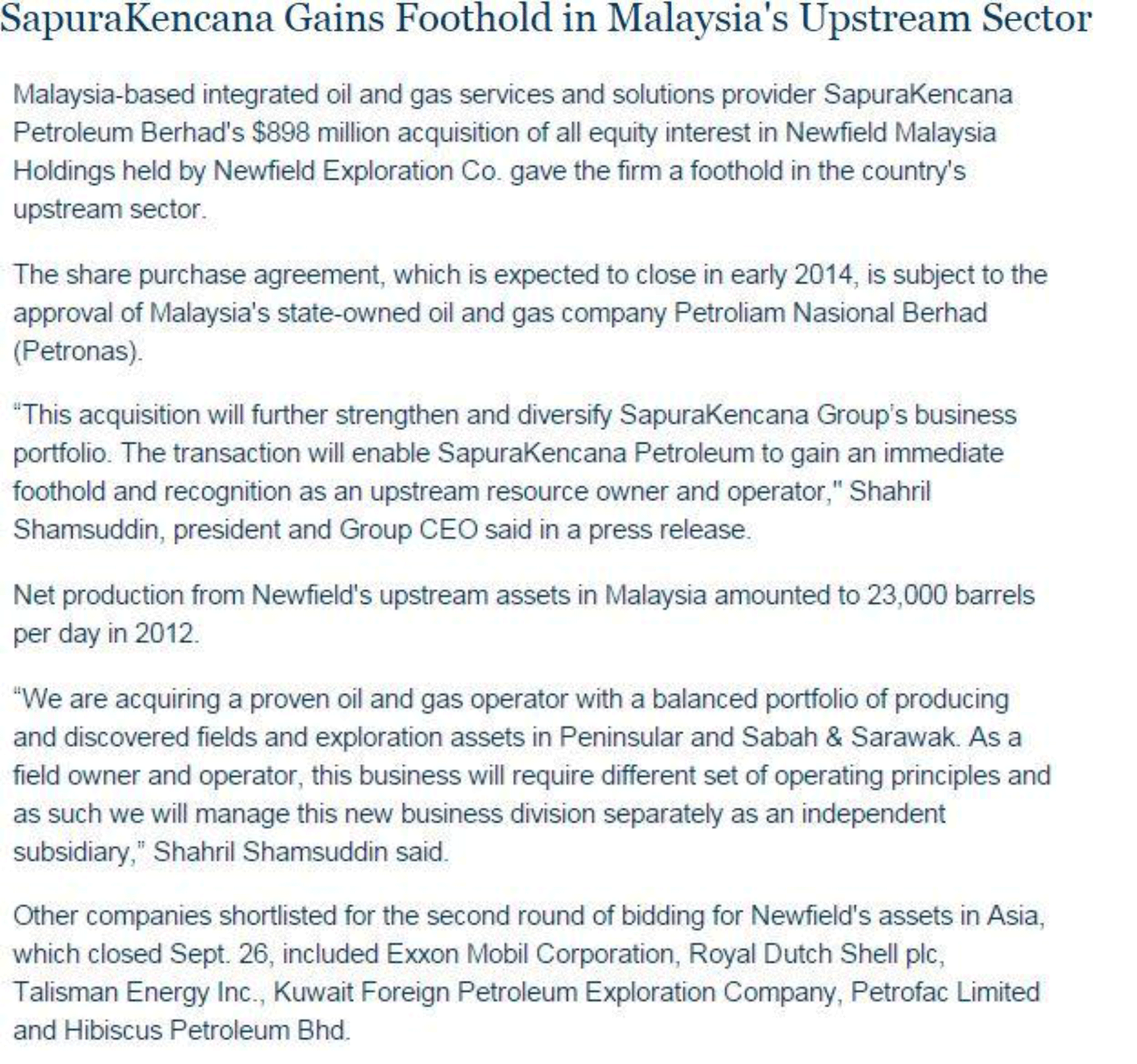 Rigzone---SapuraKencana-gains-foothold-in-Malaysia's-upstream-sector-(231013)
