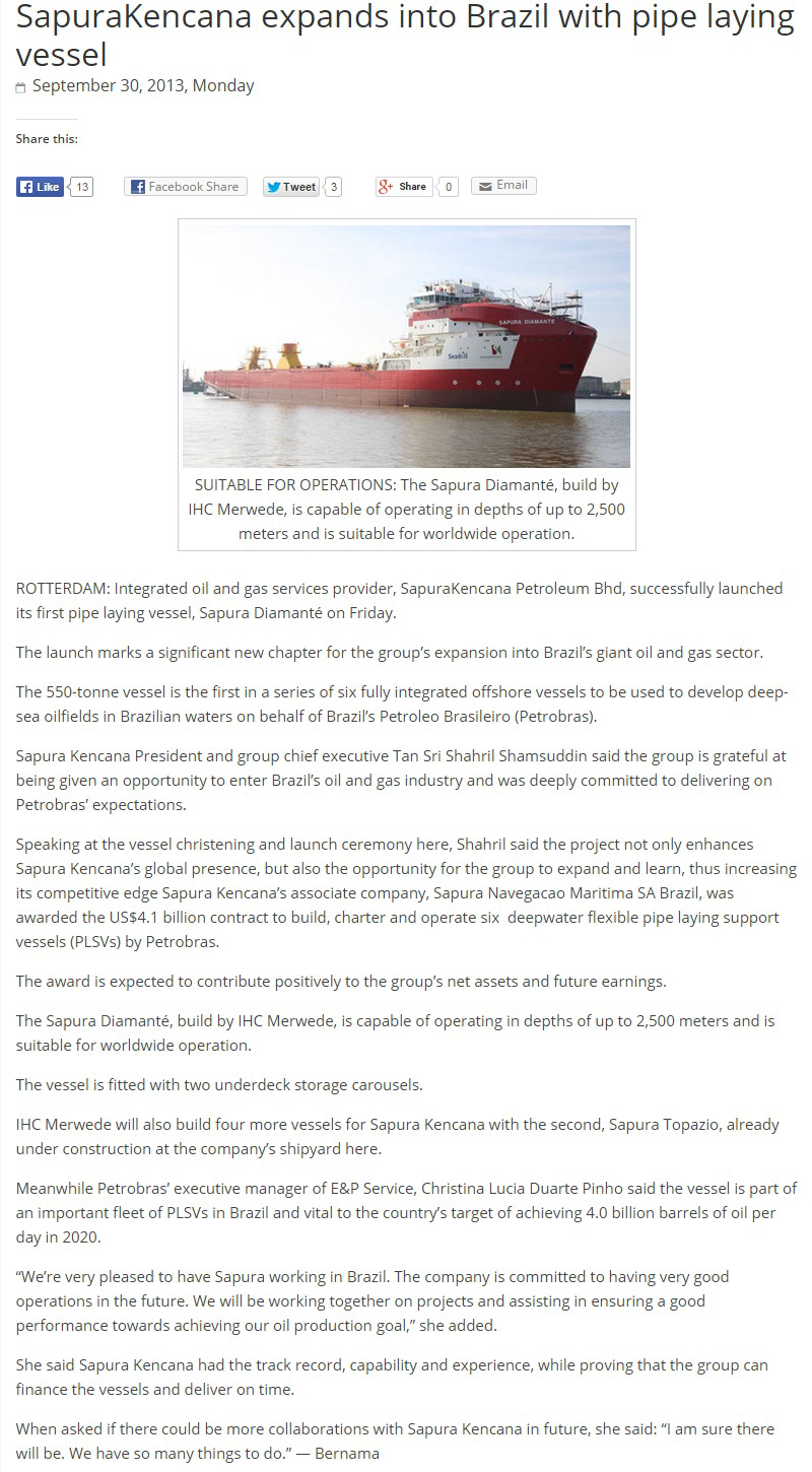 The-Borneo-Post---SapuraKencana-expands-into-Brazil-with-pipe-laying-vessel-(290913)