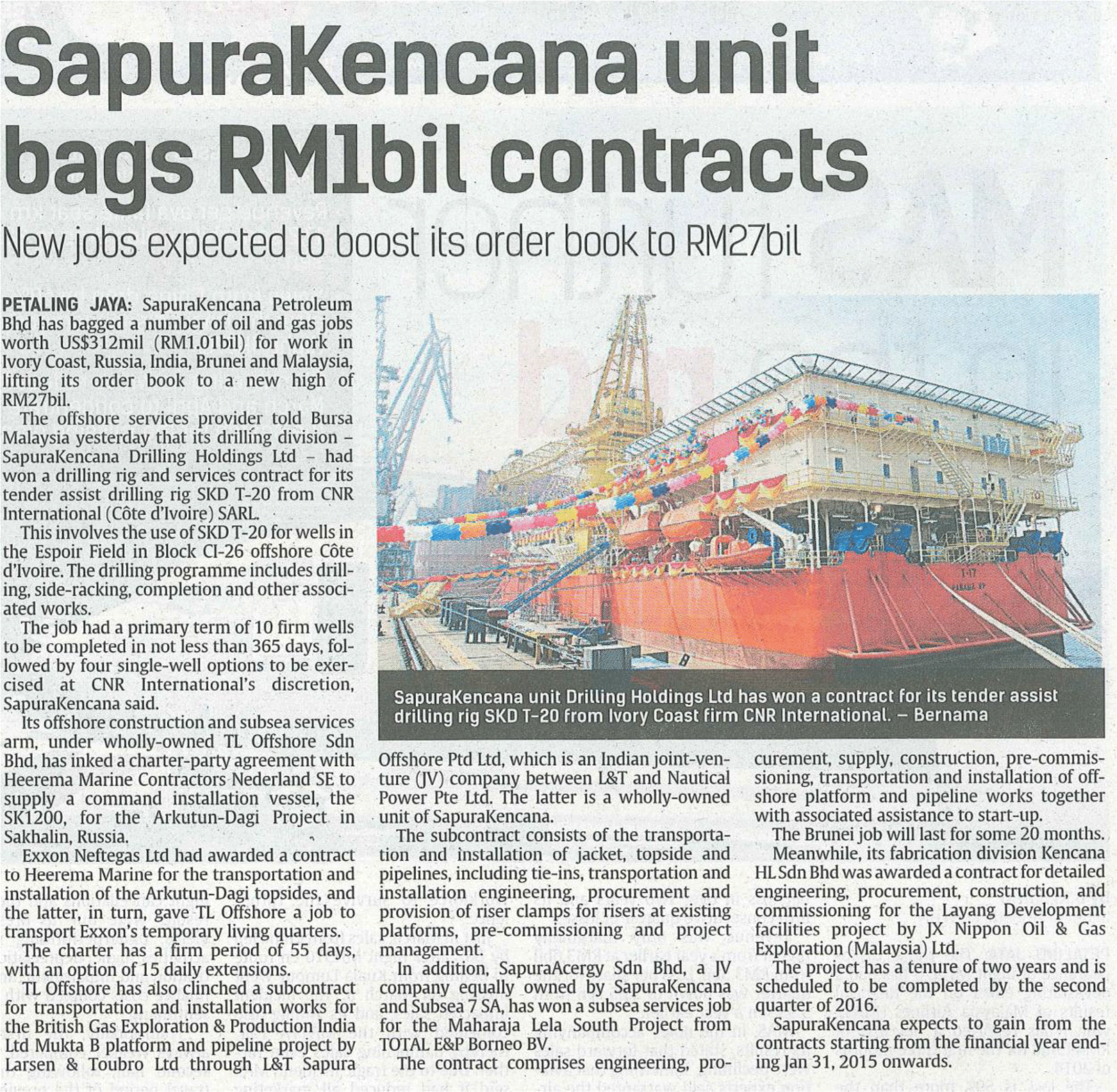 The-Star---SapuraKencana-unit-bags-RM1bil-contracts-(150514)